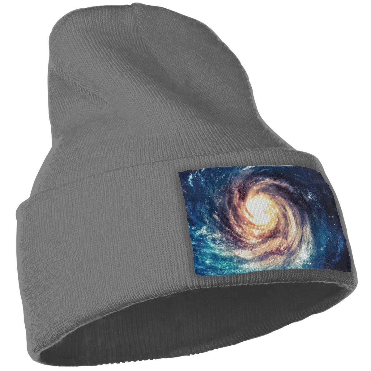 Space-Nebula Warm Knit Winter Solid Beanie Hat Unisex Skull Cap