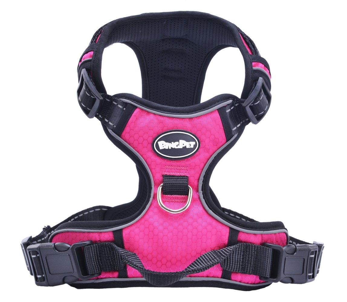 Pink XL Pink XL EXPAWLORER Best No-Pull Dog Harness. 3M Reflective Outdoor Adventure Pet Vest with Handle with 5 colors