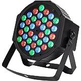 Citra Dj Lights 36 Leds Dmx 512 Rgb Color Mixing Wash Par Light For Disco Diwali Christmas Wedding Party Show Live Concert Stage Lighting (Black)