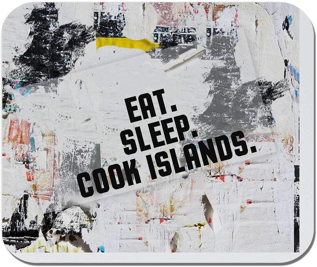 Non-Slip Rubber Office Mousepad Gaming Computer EAT Sleep Cook Islands Makoroni