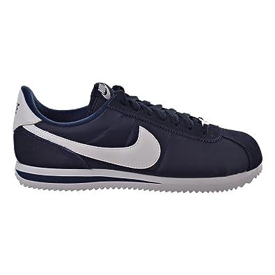 Nike Men's Cortez Basic Leather Casual Shoe White/Obsidian