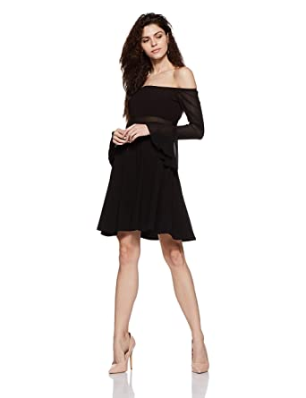 ae70e8f8e Stalk Buy Love Women s Georgette Olega Off Shoulder Dress  (In1739Mtodrebla-114 2X-Small)