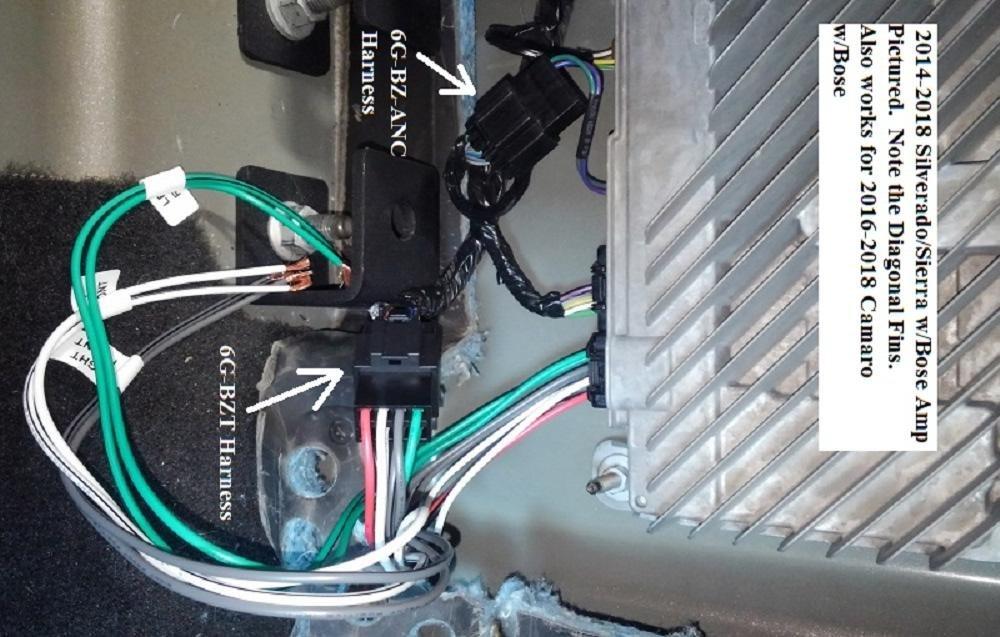 2016-2018 Camaro/Silverado/Colorado BOSE Amplifier Subwoofer T-Harness