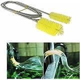 Doble Ended Filtro de agua bomba tubo cepillo de limpieza Limpiador de acuario Fish Tank Aire