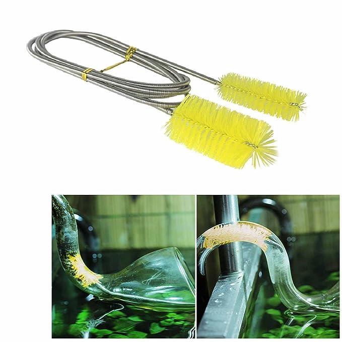 Aquarium Cable Double Brush Tube Cleaner 155cm 24 Hr Rapid Dispatch Uk Item Cleaning & Maintenance