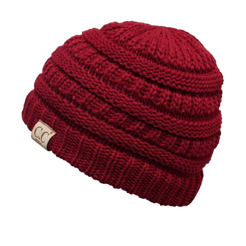 By Summer C.C Kids Baby, Toddler and Children Soft Warm Skull Cap Beanie Winter Hat yj847bgkid