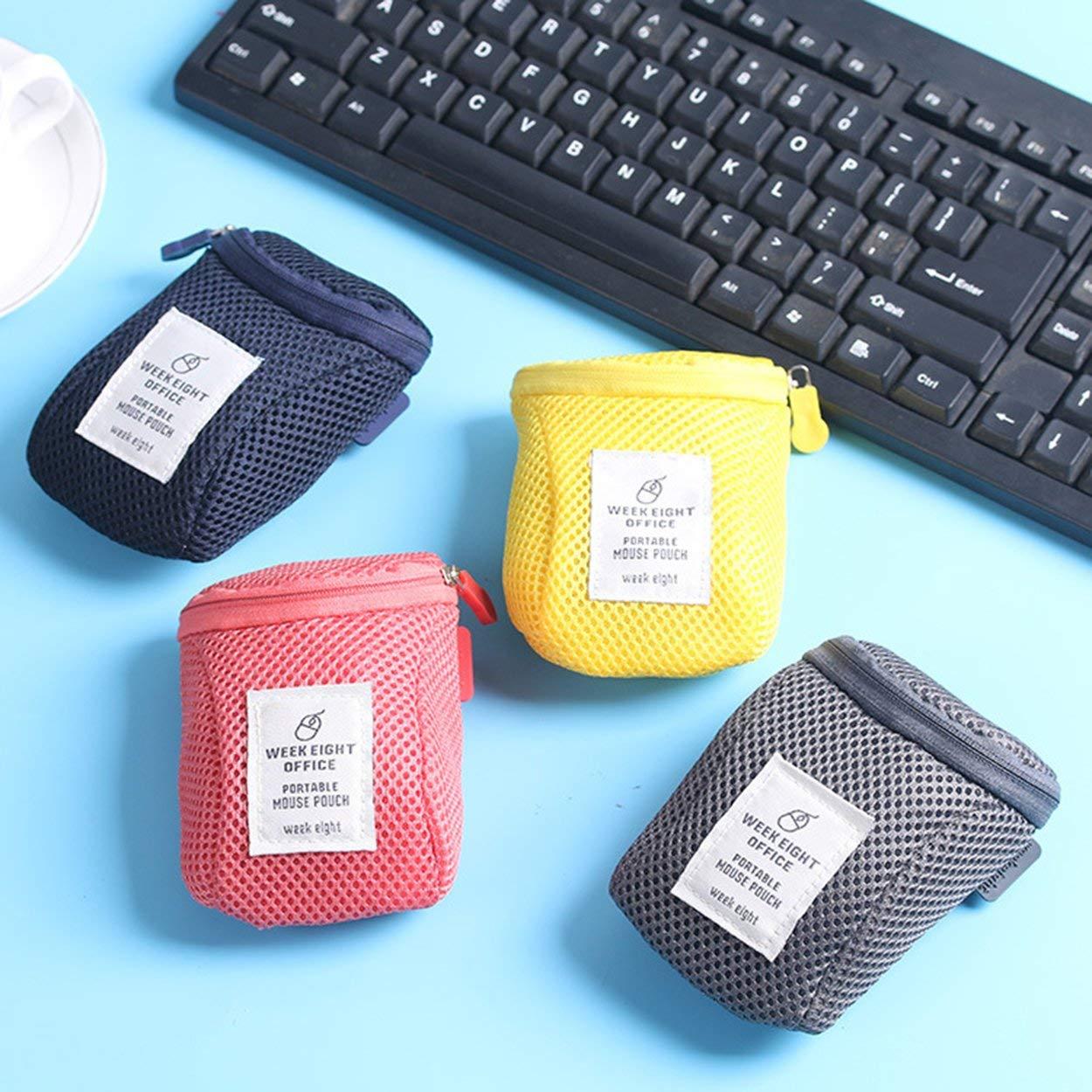 Lorenlli Accesorios para mouse Mini bolsa de almacenamiento a prueba de choques port/átil Dispositivos de dispositivos digitales personalizados Cable USB Auricular Organizador de bolsa
