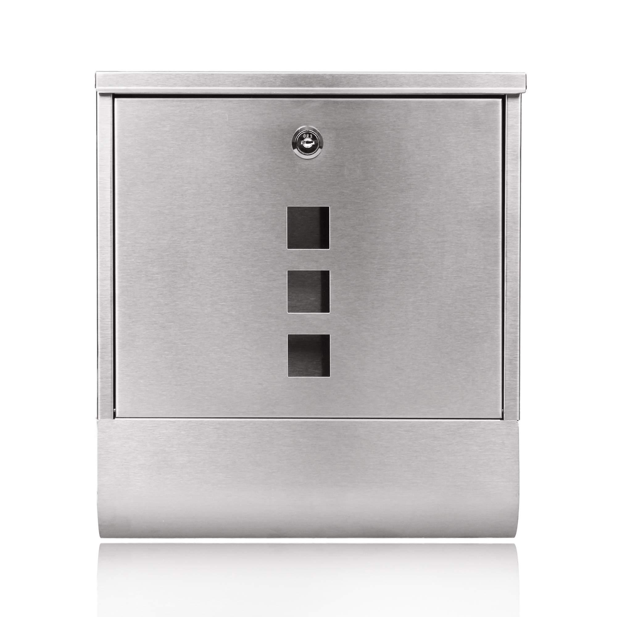 Stainless Steel Locking Mailbox Wall Mounted Letterbox [US Stock] by Rateim (Image #3)
