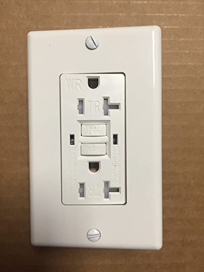 1 pc Decorator Receptacles 20A 20 amp TAMPER /& WEATHER RESISTANT White TR//WR