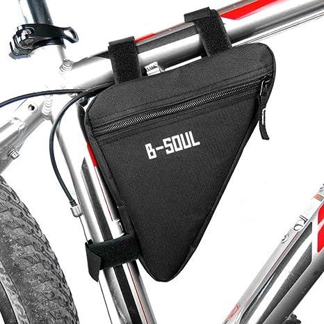 Lorenlli Fit B-Soul Impermeable Triángulo Ciclismo Bolsas de Bicicleta Tubo Delantero Bolsa Marco Porta Bicicleta Sillín Bolsa Manillar Bicicleta ...