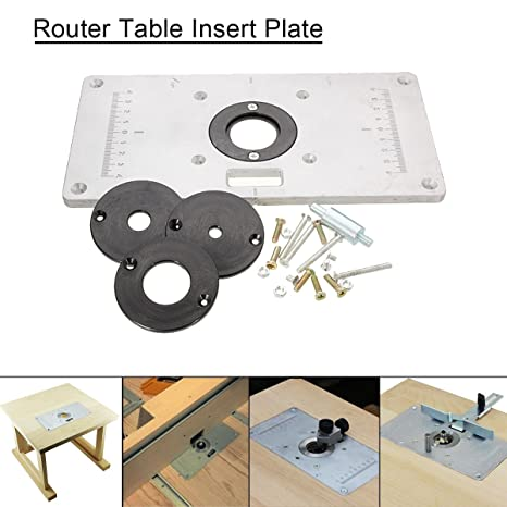 Essort router table plate aluminium alloy router table plate insert essort router table plate aluminium alloy router table plate insert for diy woodworking benches 235mm x 120mm x 8mm amazon diy tools greentooth Gallery
