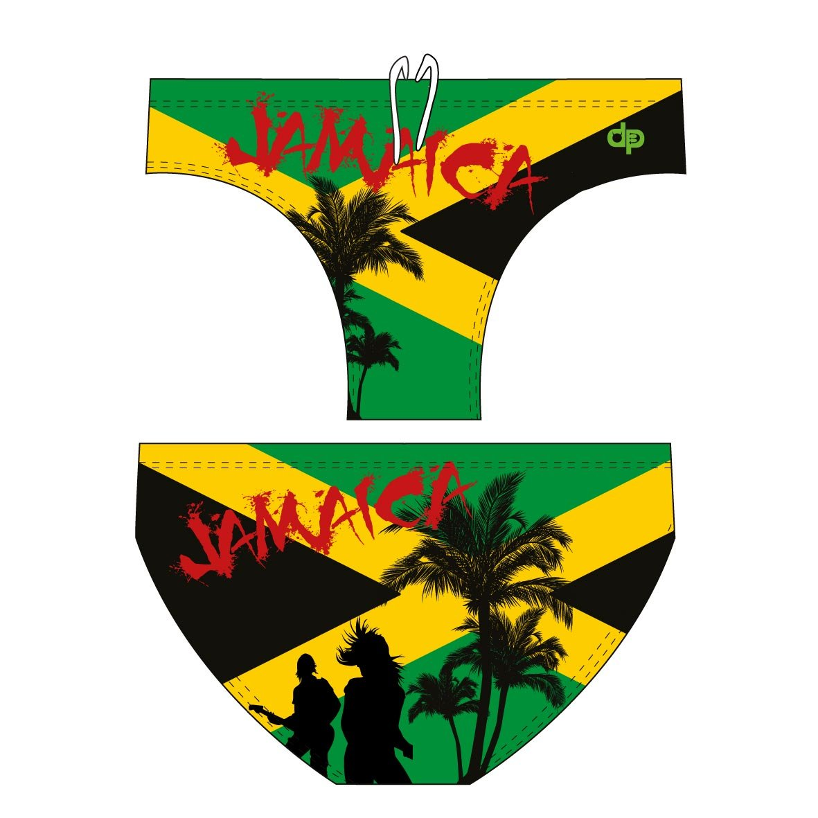 Diapolo Jamaica 1?Swimming Trunks Swim Shorts for Swimming Triathlon Waterpolo