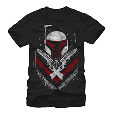 de85fccf7 Image Unavailable. Image not available for. Color: Star Wars Boba Fett No  Threats Only Promises Mens Graphic T Shirt