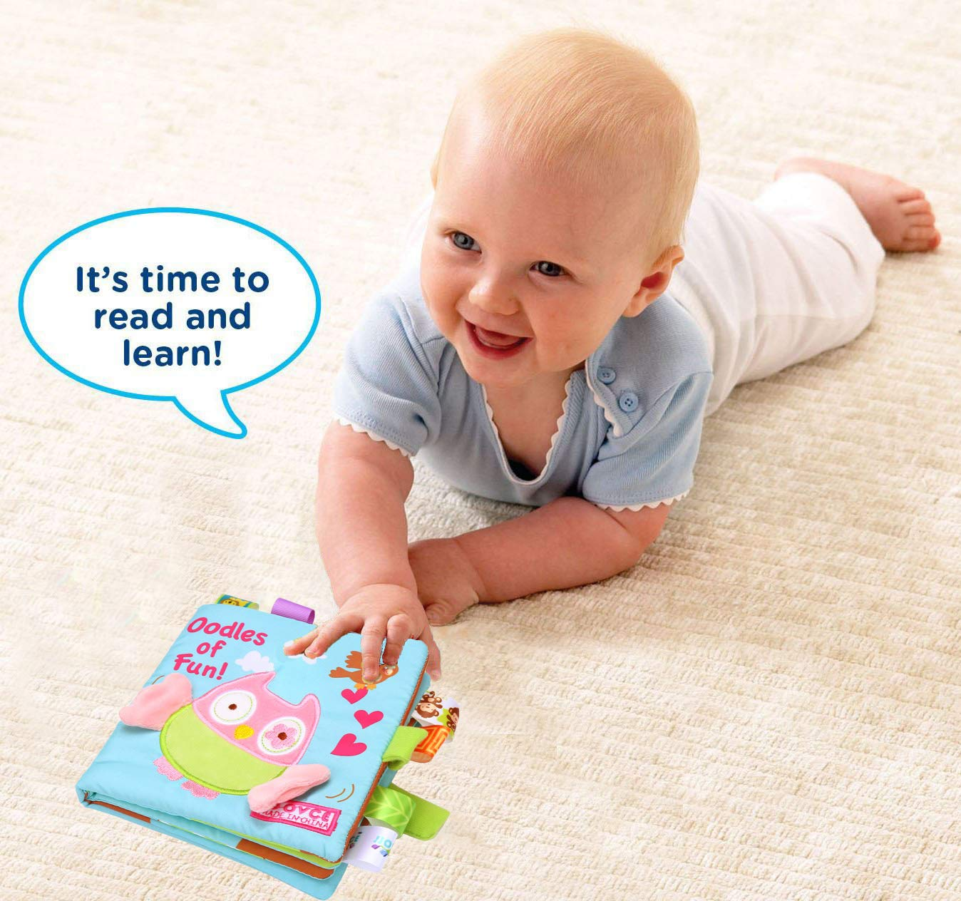 2020 Loveys Shower Gift for Babies Developmental Toy All Ages Machine Washable Updated Infant Book for Baby Boys Girls Touch and Feel Soft Cloth Owl Crinkle Sensory Preschool Toddlers Toys