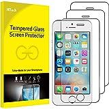 JETech Pellicola Protettiva per iPhone SE, iPhone 5s e iPhone 5, Vetro Temperato, Pacco da 3