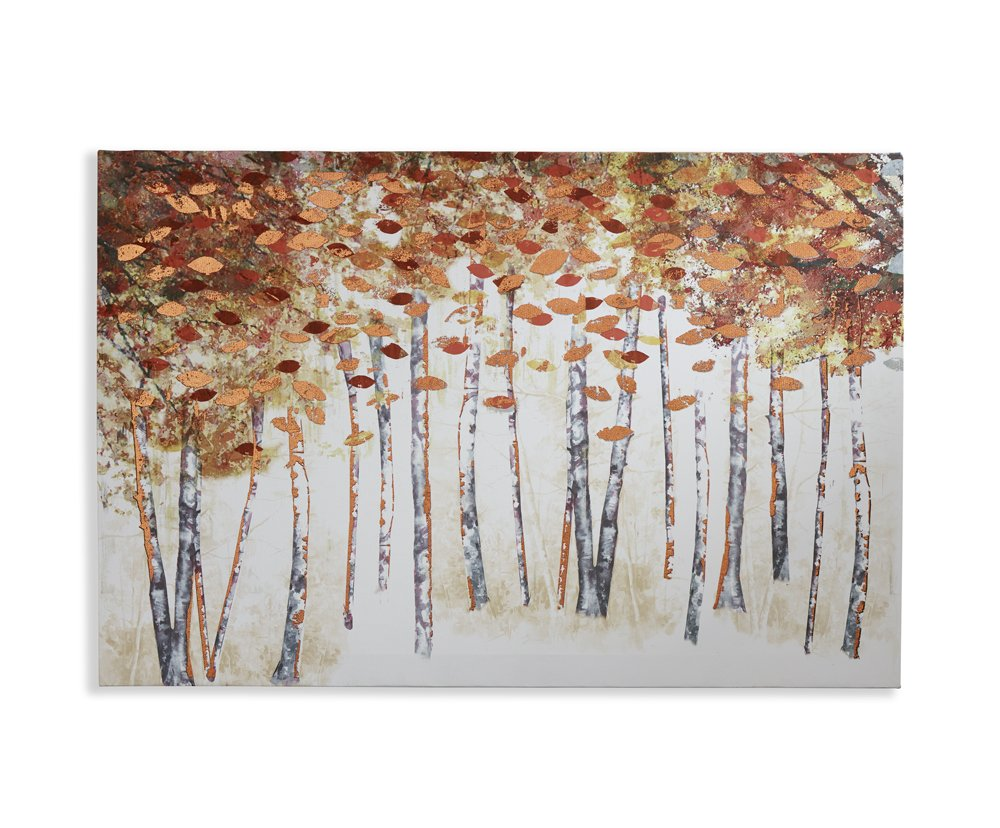 Amazon com arthouse copper birch tree abstract painted foil canvas wall art home décor posters prints