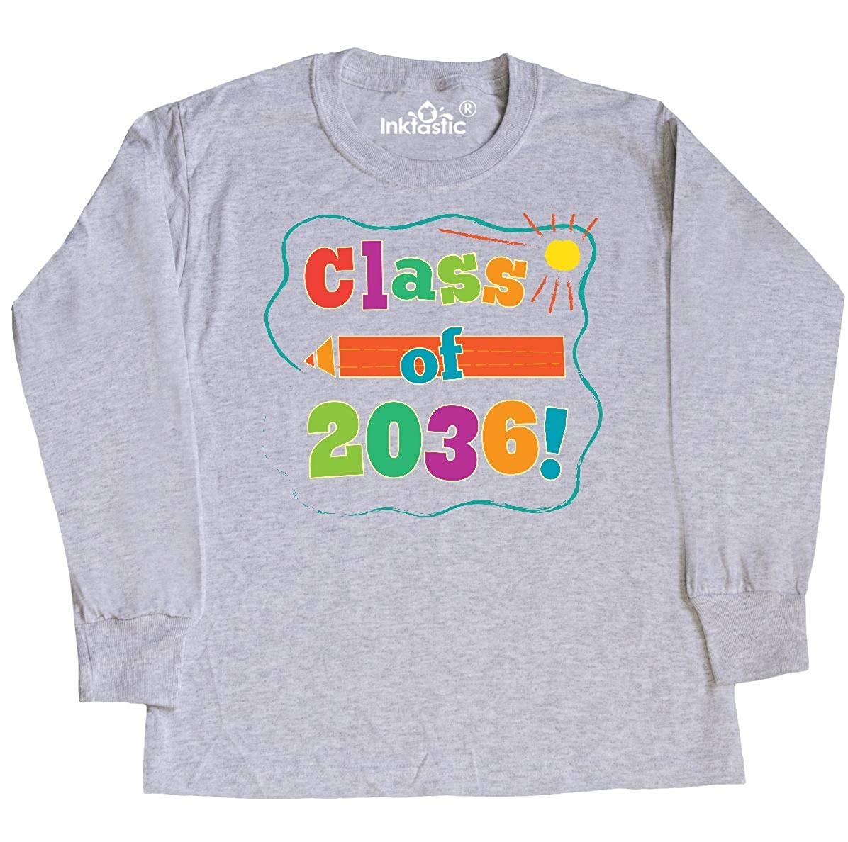 inktastic Class of 2036 School Graduation Toddler Long Sleeve T-Shirt