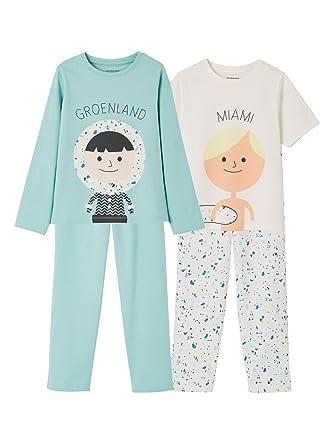 Vertbaudet Boys  Pack Of 2 Mix   Match Pyjamas Green Light 2  Color Multicolor ec076fcceba0d
