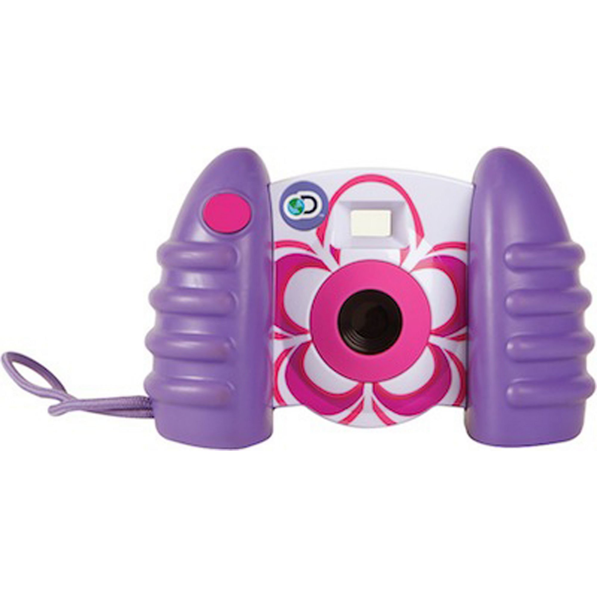 DISCOVERY KIDS USB Compatible Digital Camera, Comes With 1.5'' Color LCD Screen, Captures Photos And 50 Second Long Videos, 16 MB Storage For Up to 120 Images, Transfer Files W/Cable, PURPLE/PINK