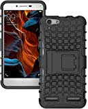 FABZONE Back Cover for LYF Flame 8 Back Cover Hybrid Kick Stand Case - Black