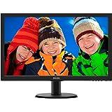 "Philips 243V5LHSB Gaming Monitor 23.6"" LED Full HD, 1920 x 1080, 1 ms, HDMI, DVI, VGA, Attacco VESA, Nero"