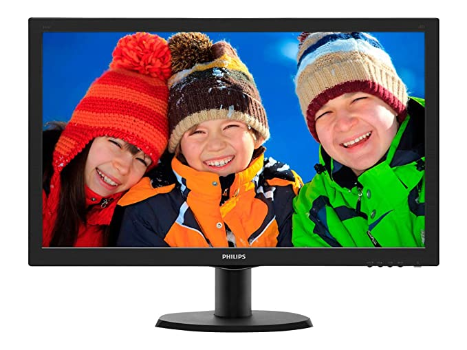 "Philips 243V5LHSB Gaming Monitor 23.6"" LED Full HD, 1920 x 1080, 1 ms, HDMI, DVI, VGA, Attacco VESA, Nero"