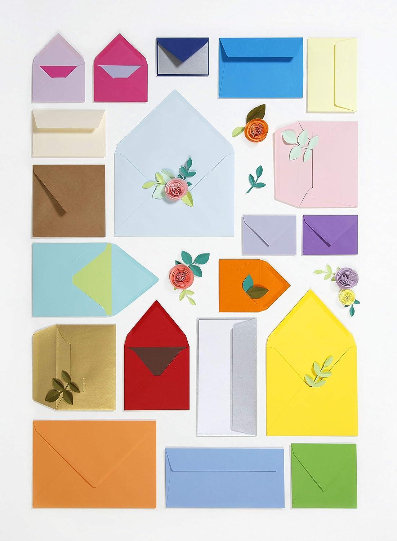 Rosa Fucsia Clairefontaine confezione da pz 20 Pollen 5572C Buste 16.2 x 22.9 x 0.1 cm