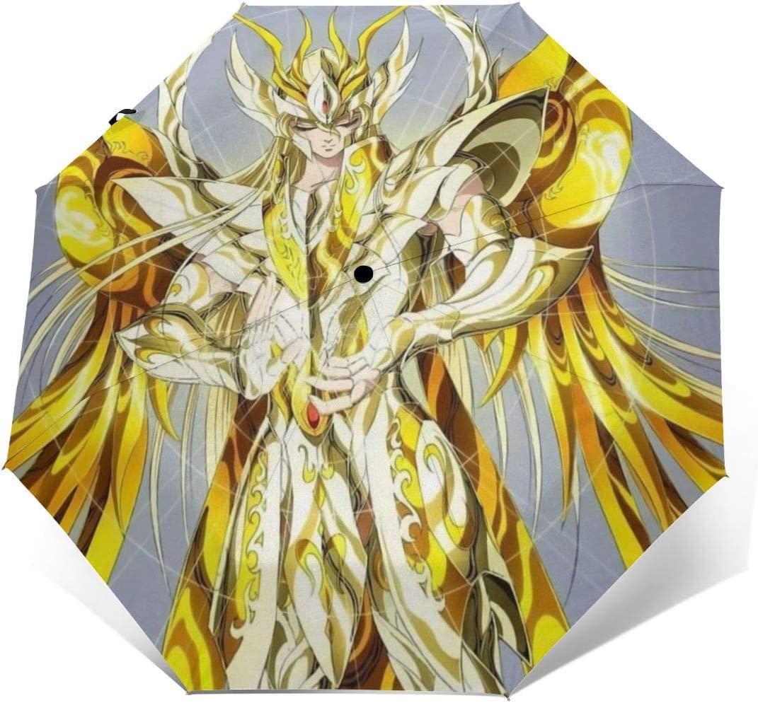 PatriciaHeredia Saint Seiya Anime Automatic Tri-fold Umbrella
