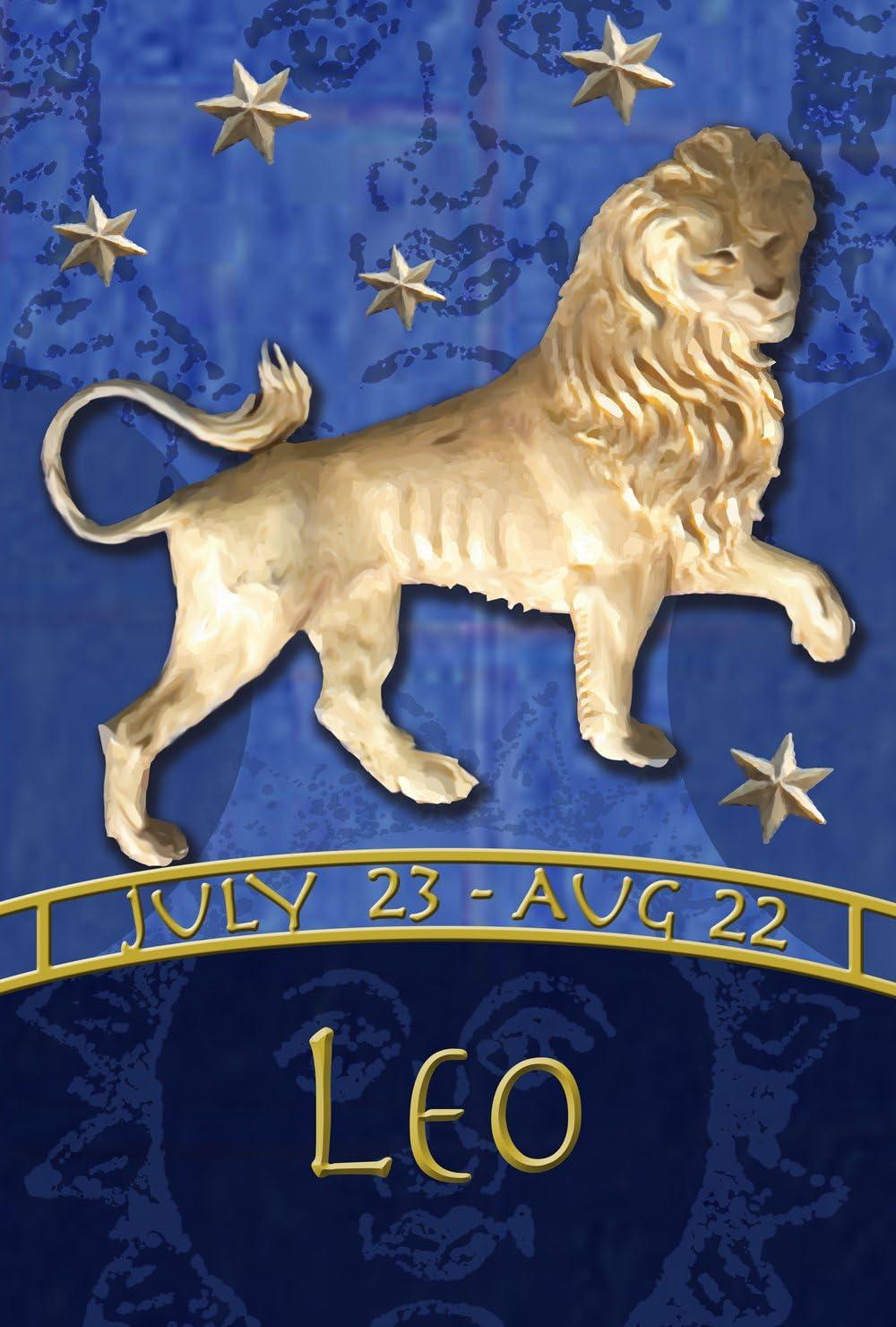"Toland Home Garden Zodiac Leo, House Flag (28"" x 40"")"