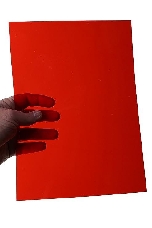 Red acetato plástico transparente A4 x100 () 200 micrones 0,2 mm ...