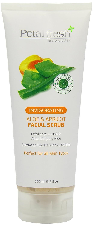 Petal Fresh Botanicals Aloe and Apricot Facial Scrub, 7-ounce PF70102