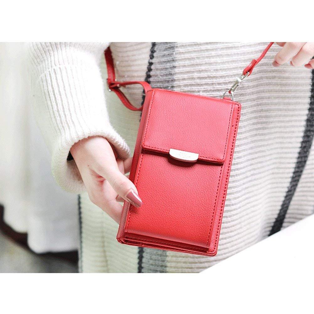 HMILYDYK Femmes Portefeuille Sac /À Bandouli/ère En Cuir Porte-Monnaie T/él/éphone Portable Mini Pochette Porte-Carte /Épaule Portefeuille Sac
