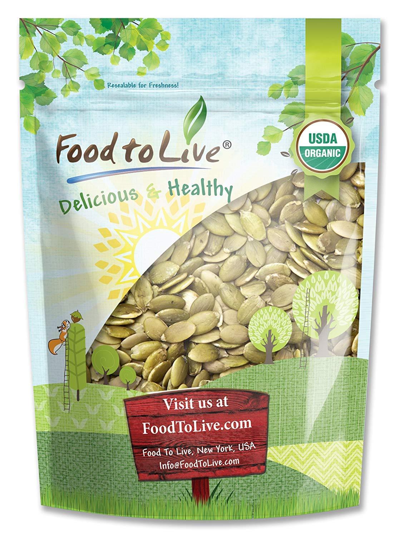 Organic Pepitas / Pumpkin Seeds, 1 Pound – No Shell, Non-GMO, Kosher, Raw, Vegan