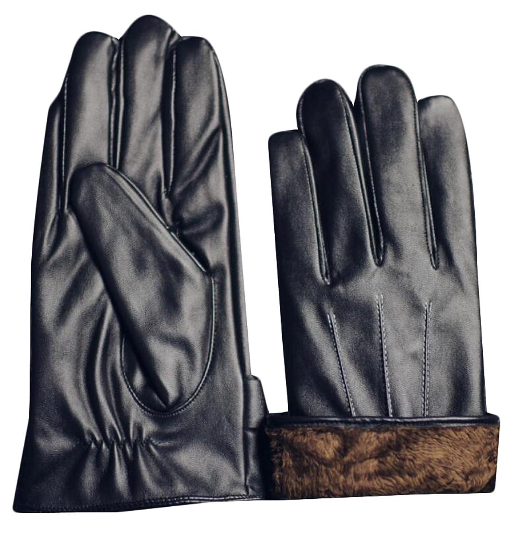 Mens velvet gloves - Hana Dora Mens Casual Leather Cycling Warm Plus Velvet Gloves 30 Off