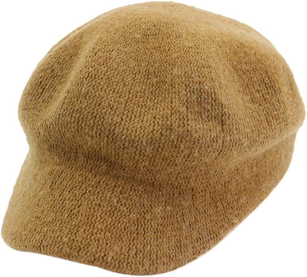 Zhuhaitf Womens Wool 8 Panel Newsboy Driving Beret Hat Cabbie Baker Boy Flat Cap