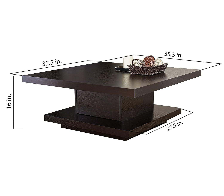 Amazon ioHOMES Celio Square Coffee Table Red Cocoa Kitchen