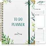 Simplified Greenery To Do List Notebook - Beautiful Daily Planner Easily Organizes Your Daily Tasks And Boosts Productivity -