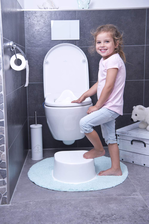 crema Asiento reductor para WC color Blanco perla Rotho Babydesign 20023 0100 Bella Bambina