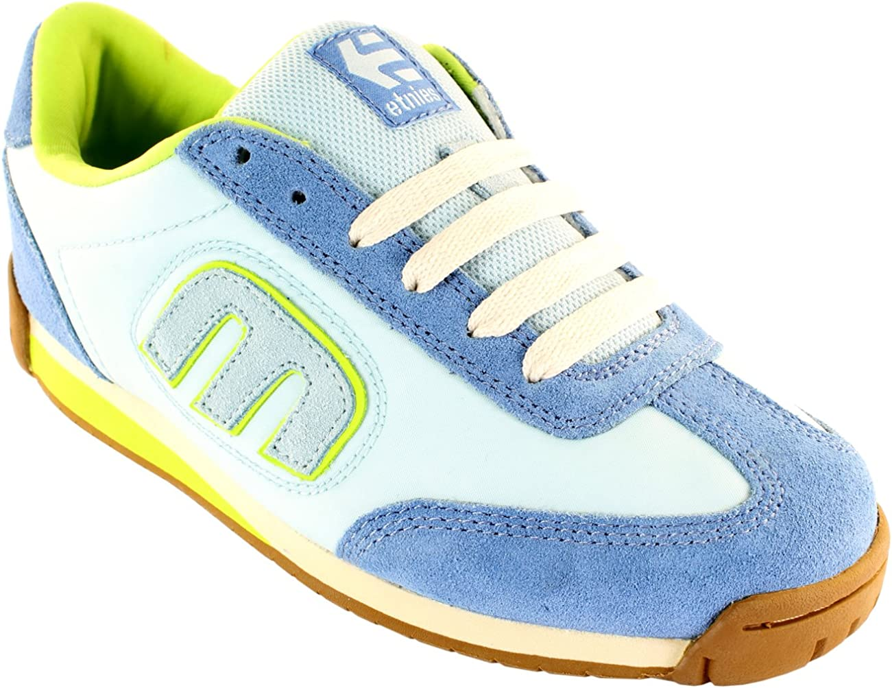 WOMENS  SNEAKERS LOW BIG STAR FASHION YELLOW BLUE SHOES TRAINERS SIZE 3-8 UK