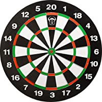 Bull's 68235 Windsor Paper Dartboard, Beidseitig bespielbar, Schwarz/Rot/Grün/Beige, 45.5 cm