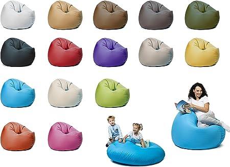 fertig bef/üllt Gr/ö/ßen Patchhome 2 in 1 Funktion Sitzsack Sitzkissen Bean Bag 145cm Durchmesser in 25 Farben und 3 versch Blau