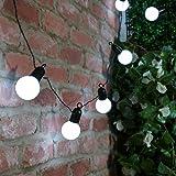 Guirlande guinguette ext rieure raccordable avec 10 globes for Guirlandes lumineuses exterieur guinguette