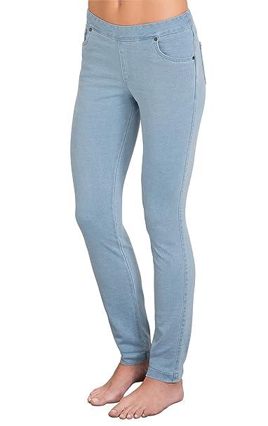 5cc09a3d9 PajamaJeans Womens Skinny Stretch Knit Denim Jeans, Clearwater, X-Small / 0-