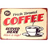 RETRO METAL WALL SIGN TIN PLAQUE VINTAGE SHABBY CHIC COFFEE KITCHEN LOUNGE BAR LIFE