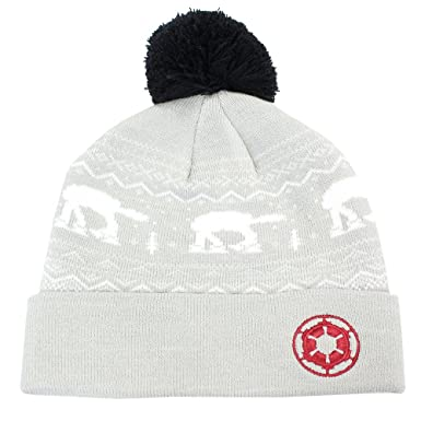 4c81181f8b1 Amazon.com  Star Wars Official at at Beanie Bobble Hat Grey  Clothing