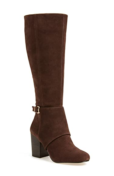 14e469e6d Image Unavailable. Image not available for. Color: BCBGeneration Denver Boots  Cognac Dark Brown Suede ...