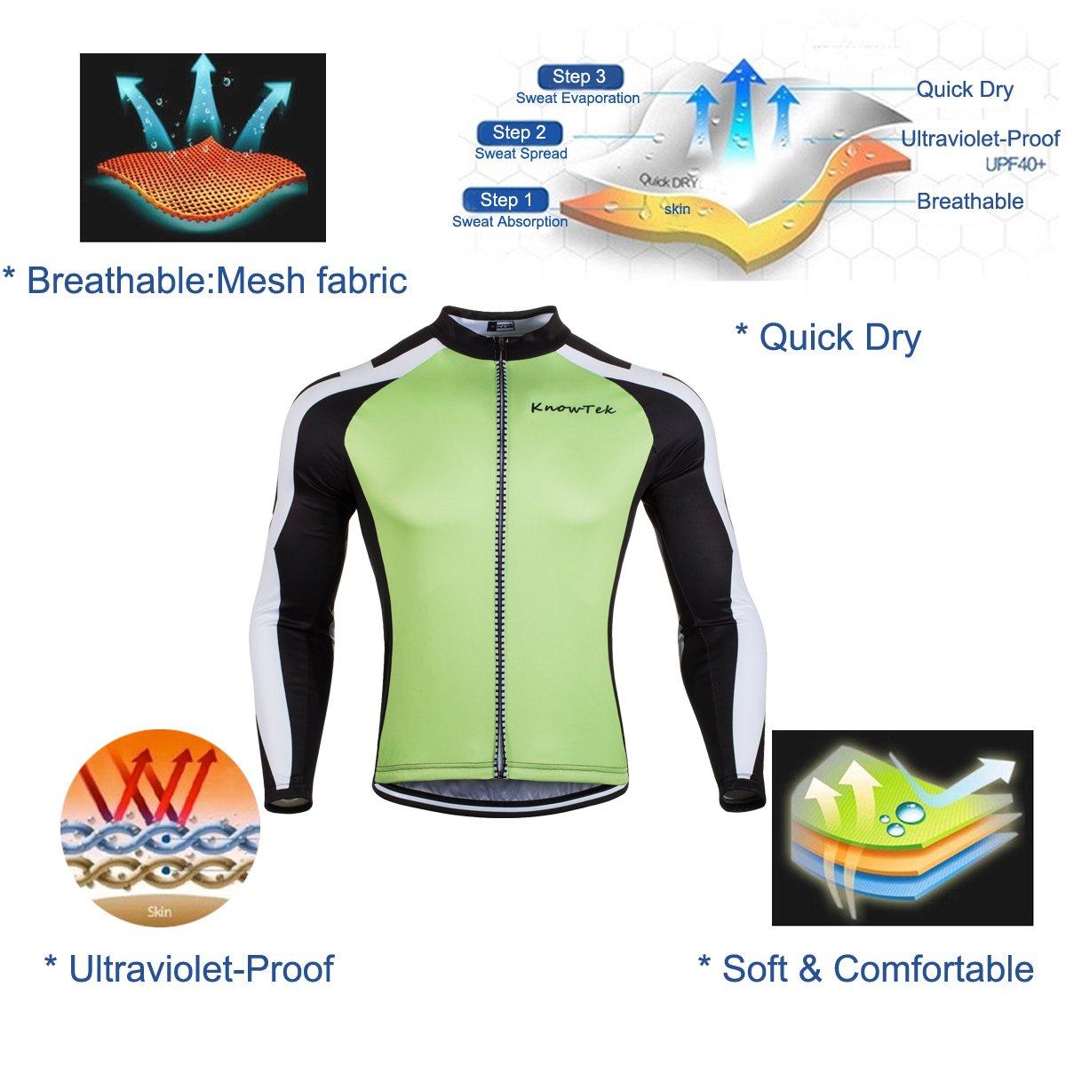 Mens Cycling Jersey Long Sleeve Bicycle Cloth Bike Shirt Cycle Clothing