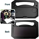 Zone Tech Auto Steering Wheel Tray Desk - Multi-Functional Black Portable Vehicle Laptop, IPad, Notebook, Tablet, and Food Ea