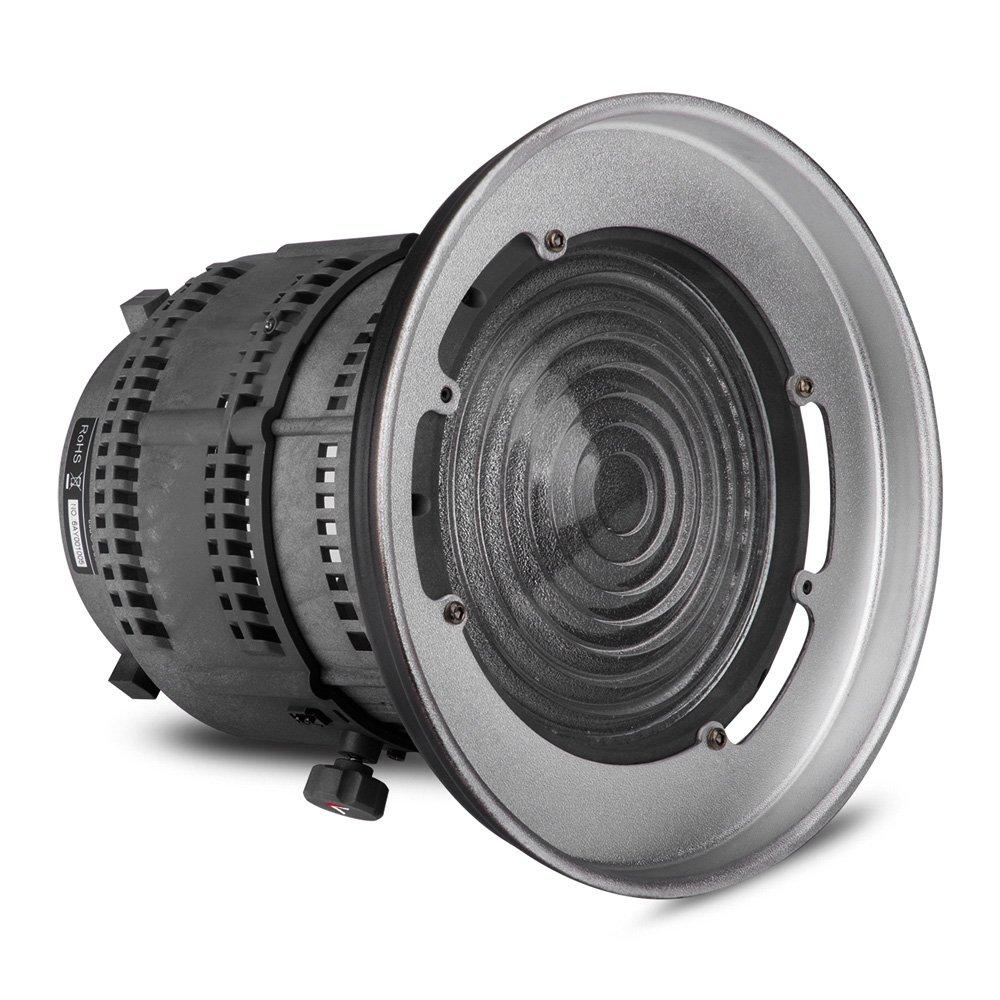 Aputure Fresnel-Berg mit verstellbarem Objektiv-Licht-Shaping-Tool für Aputure Licht Sturm COB 120T 120D und andere Bowens Berg Lights - 12 bis 42 ° Abstrahlwinkel 14000lux 0.5M zu 67000lux 0.5M