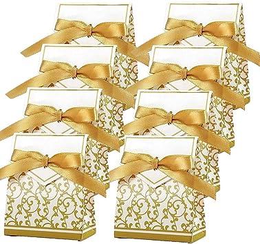 Amazon.com: Herdro cajas de caramelos doradas/plateadas ...